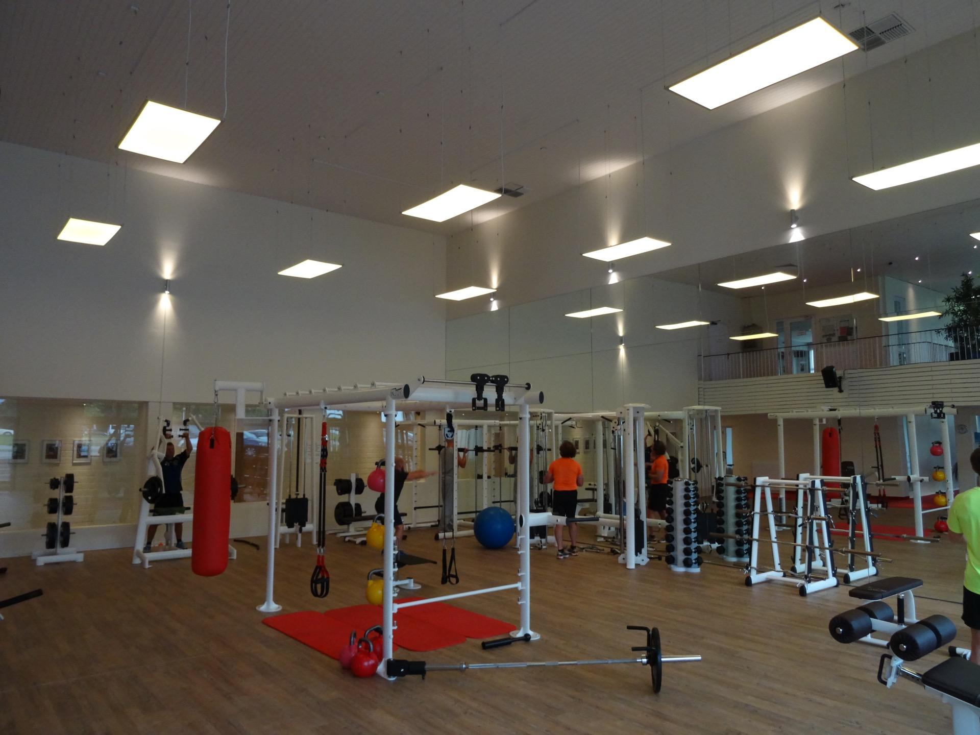 Fitnessraum Schalker Sportpark, Gelsenkirchen – Ledlight Solutions